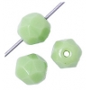 Fire polished 6mm Opaque Light green